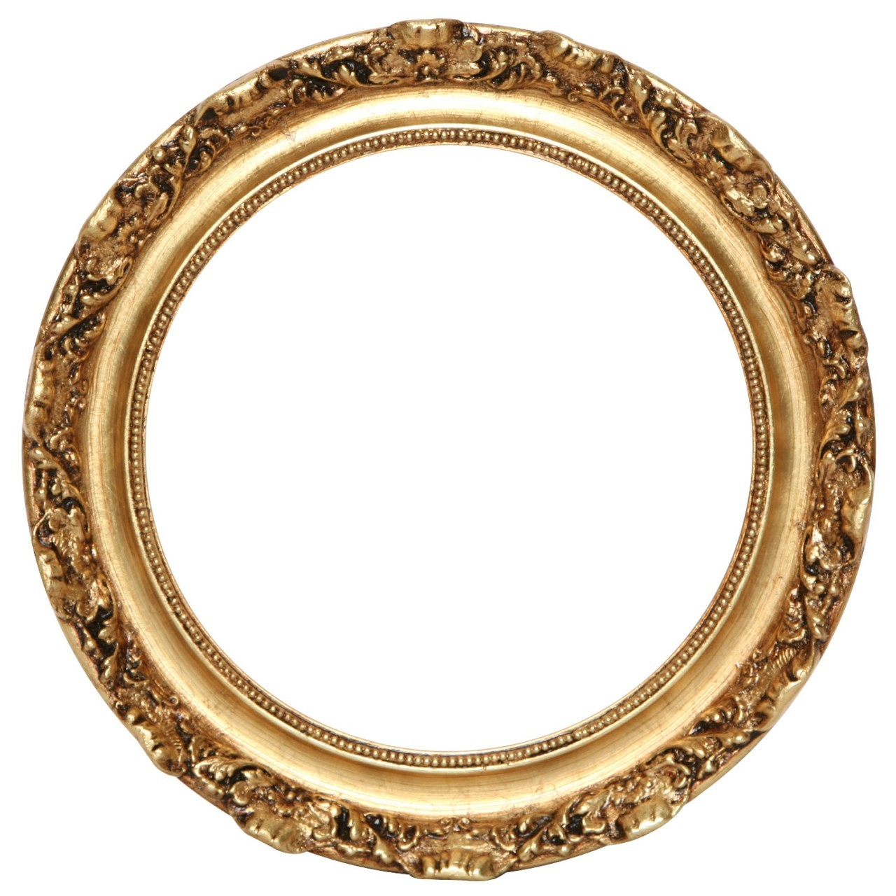 Carved Gold Circle Frame