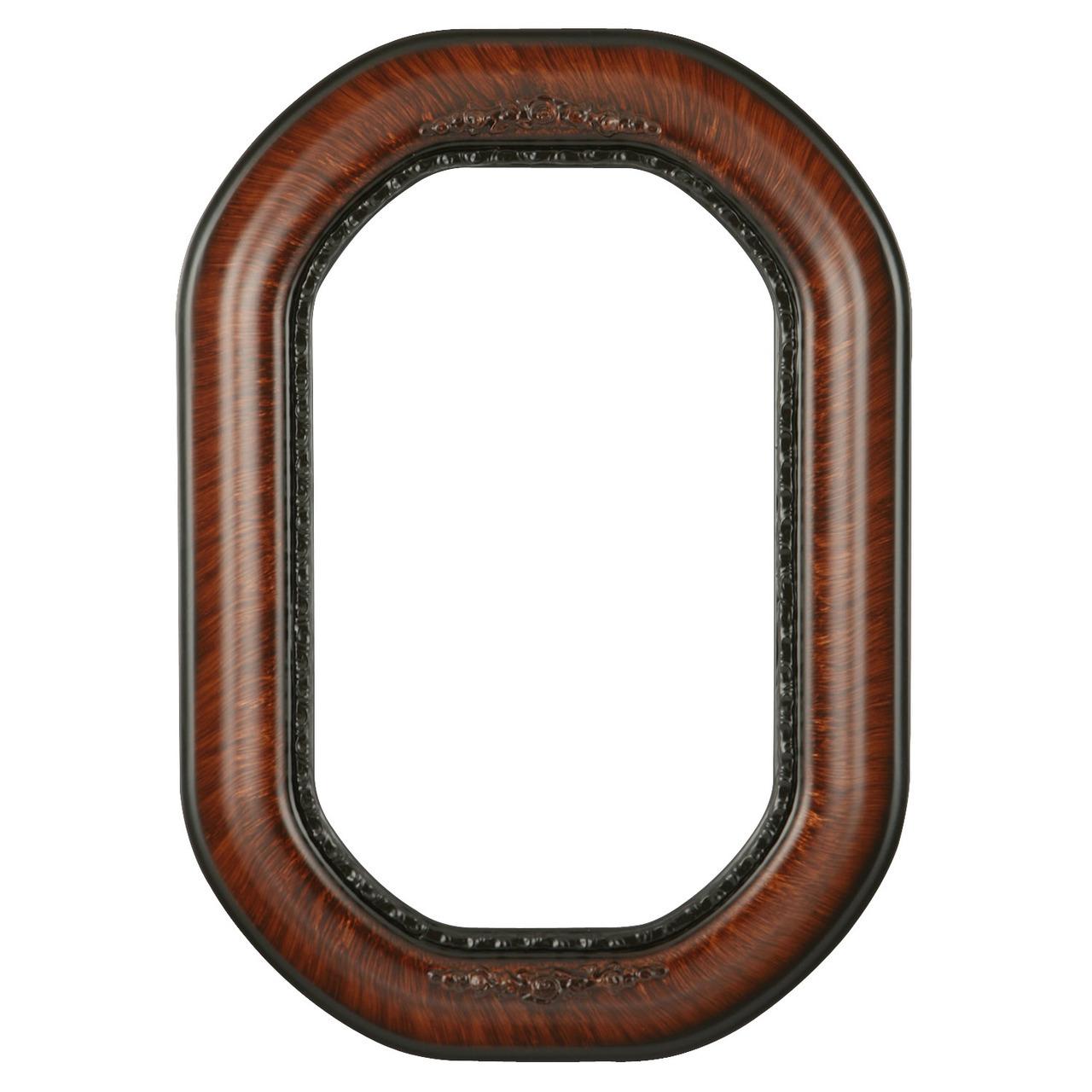 VIntage Walnut Octagon Frame