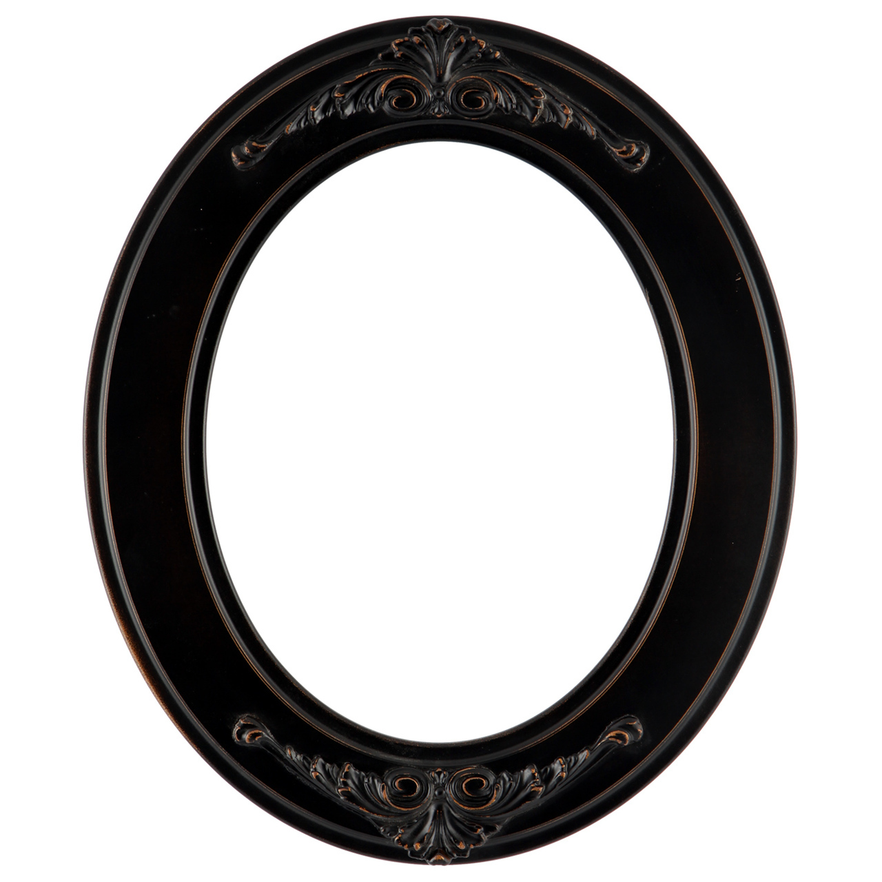 Rubbed Bronze Oval Frame